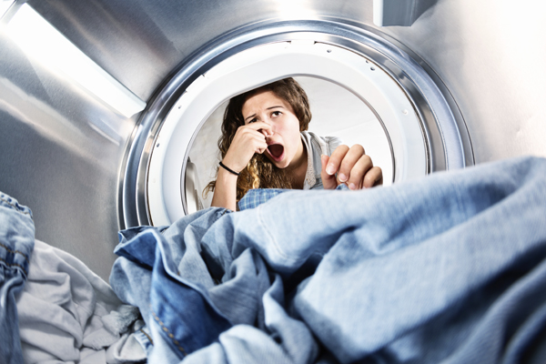 How to wash smelly athletic clothes and remove odors.