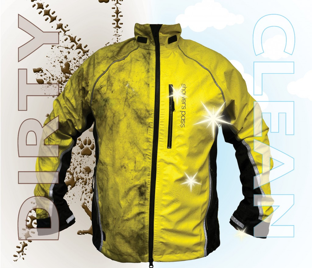 wash your dirty bike jacket