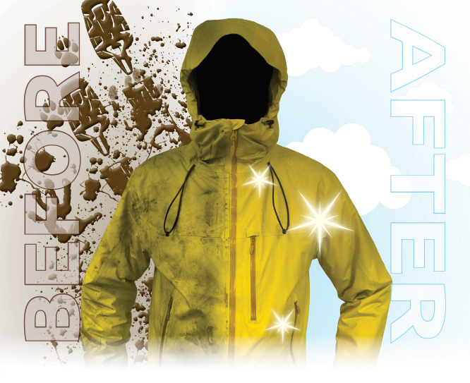 a clean and waterproof ski jacket is a happy ski jacket